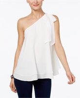 INC International Concepts Petite One-Shoulder Bow Blouse, Only at Macy's