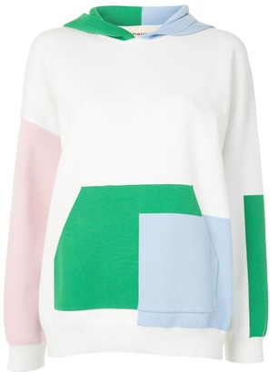 Portspure Colour-Block Relaxed-Fit Hoodie