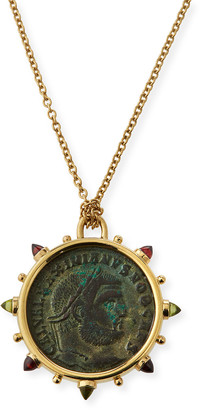 Dubini 18k Roman Bronze Medallion Necklace