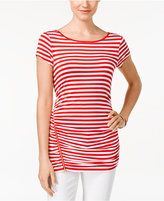 Cable & Gauge Striped Ruched Knit Top