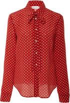 RED Valentino Polka Dot Tie Blouse