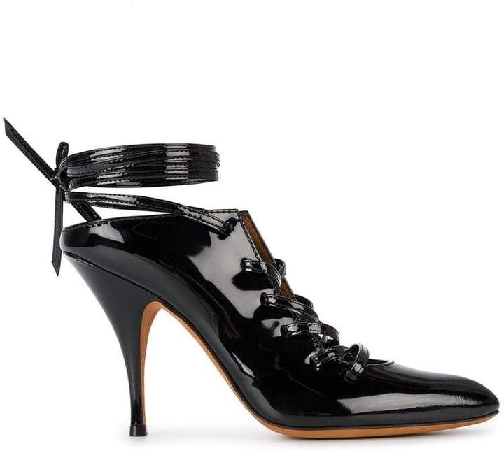 Givenchy lace up pointed toe mules