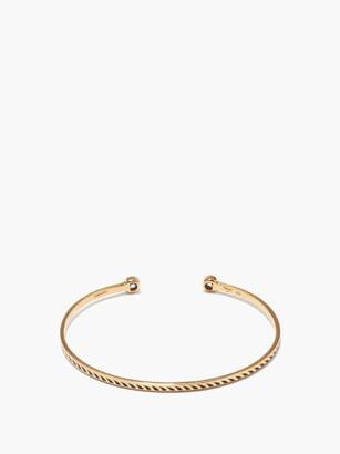 Dezso Deco Diamond, Enamel & 18kt Rose Gold Cuff - Gold
