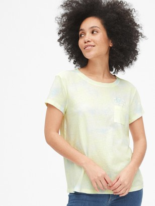 Gap Logo Tie-Dye Pocket T-Shirt
