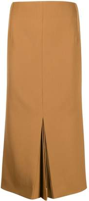 Victoria Beckham pleated details midi skirt