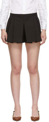 RED Valentino Black Pleated Shorts
