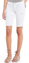 YMI Jeanswear Luxe Distressed Raw Hem Bermuda Shorts
