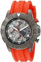 Nautica Men's NAD17514G NSR 104 Analog Display Analog Quartz Orange Watch