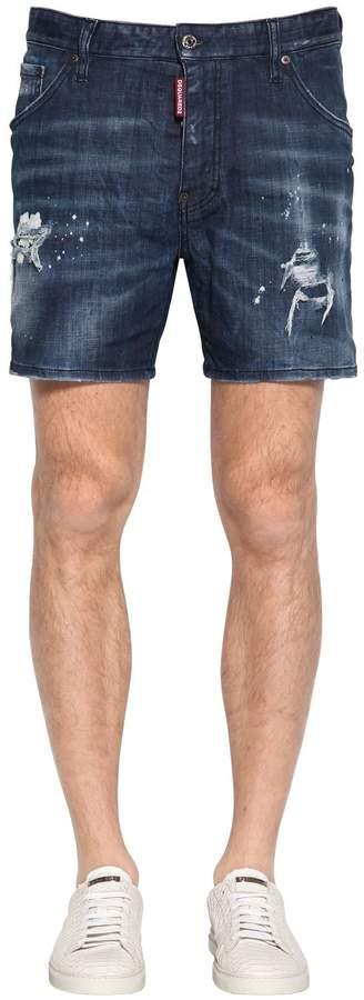 DSQUARED2 26.5cm Dan Commando Cotton Denim Jeans