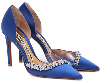 Alexandre Vauthier Ane embellished satin pumps