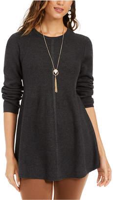 Style&Co. Style & Co Petite Mixed-Stitch Tunic Sweater