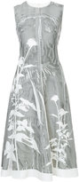 Jil Sander flared flower print dress