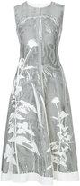 Jil Sander flared flower print dress