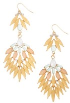 Adia Kibur Women's Stone Fan Drop Earrings