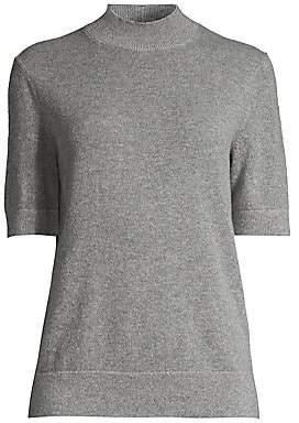 Lafayette 148 New York Women's Cashmere Short-Sleeve Turtleneck Pullover