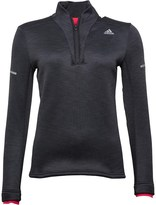 adidas Womens Climaheat 1/2 Zip Long Sleeve Running Top Dark Grey Heather