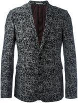 Christian Dior lines print blazer - men - Cotton/Cupro - 48