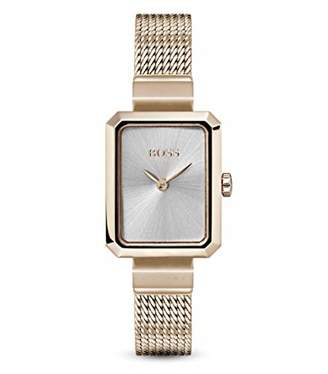 HUGO BOSS Womens Analogue Classic Quartz Watch with Rose Gold Strap 1502432