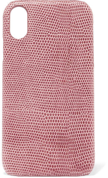Factory The Case Lizard-effect Leather Iphone Xr Case - Pink
