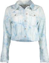 Off-White Off White Super Bleach Water Cropped Denim Jacket