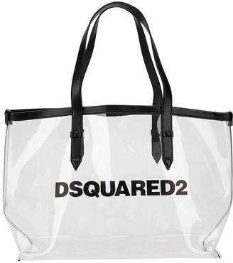 DSQUARED2 Clear Logo Print Tote Bag