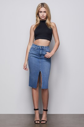 Good American Pencil Skirt With Slit | Blue420
