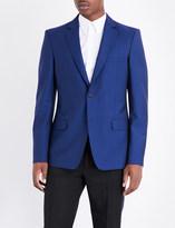 Alexander McQueen Tailored wool and mohair-blend jacket