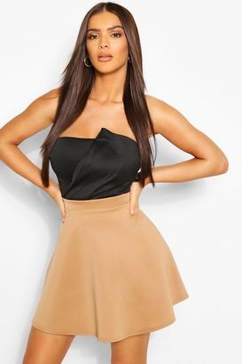boohoo Basic Fit And Flare Skater Skirt