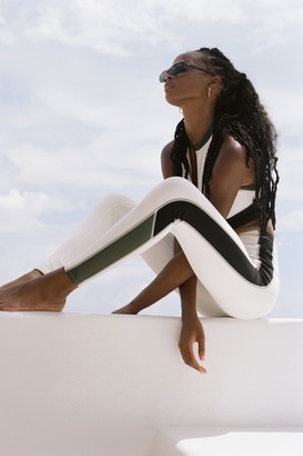 Bandier X Solid & Striped Soleil Zip Front Leggings in