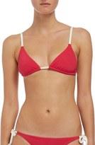 Solid & Striped Triangle Bikini Top