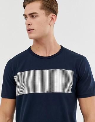 Celio t-shirt with stripe pannel-Navy