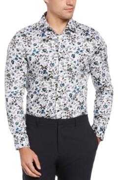 Perry Ellis Men's Slim Fit Floral Print Long Sleeves Button-Down Shirt