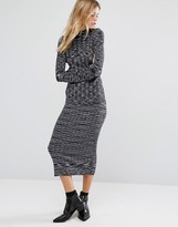 Vero Moda Ribbed Midi Skirt