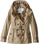 Burberry Grangemoore Checked Hood Jacket Girl's Coat