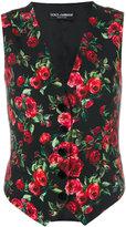 Dolce & Gabbana rose print waistcoat
