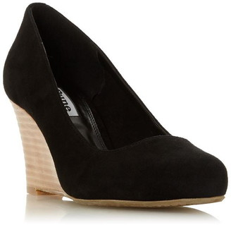 Dune London Wf Allixe 2 Wide Fit Suede Wide Fit Court Shoes