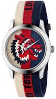 Gucci Wolf-Head Nylon Web Watch