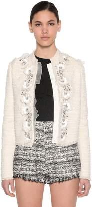Giambattista Valli Embellished Cotton Blend Tweed Jacket