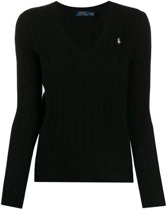 Polo Ralph Lauren logo knit V-neck jumper