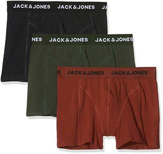 Jack and Jones Men's Jacautumn Trunks 3 Pack Boxer Shorts,Large (Pack of 3)