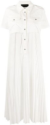 Mr & Mrs Italy Short-Sleeve Pleated Shirt Dress
