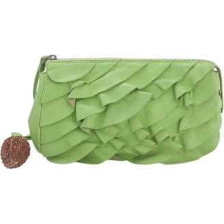 Ungaro Green Leather Clutch bags