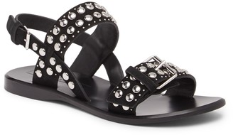Marc Jacobs Tawny Flat Studded Leather Sandal
