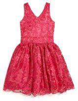 Un Deux Trois Girl's Embroidered Party Dress