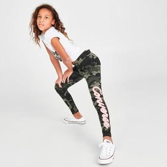 Converse Girls' Signature Logo Camo Leggings