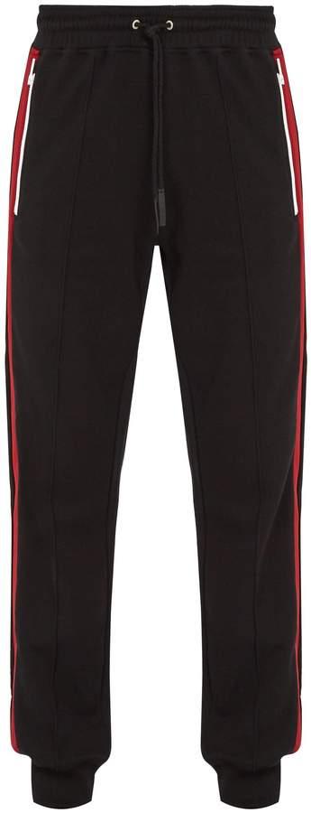 Givenchy Side-stripe cotton track pants