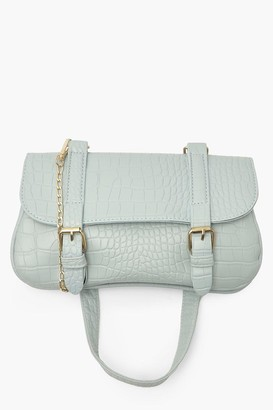 boohoo Double Buckle Saddle Cross Body Bag