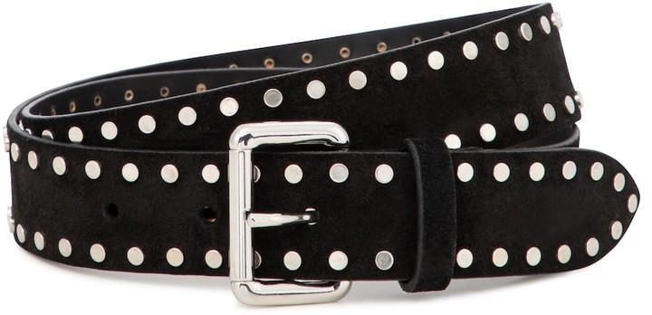 Isabel Marant Studded suede belt