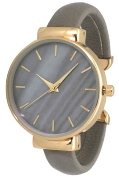 Preston Women's Gradiant Design Leather Cuff Watch 38mm