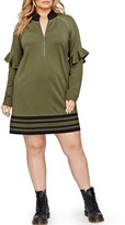 Plus Size Women's Addition Elle Love And Legend Jordyn Woods Zip Neck Tunic
